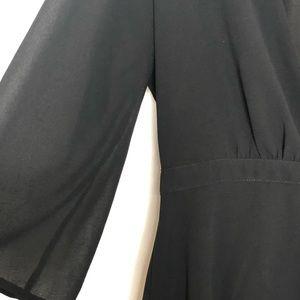 Tobi Dresses - TOBI deep vneck 3/4 sleeve dress size large 429